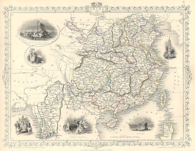 Litografia del territorio cinese
