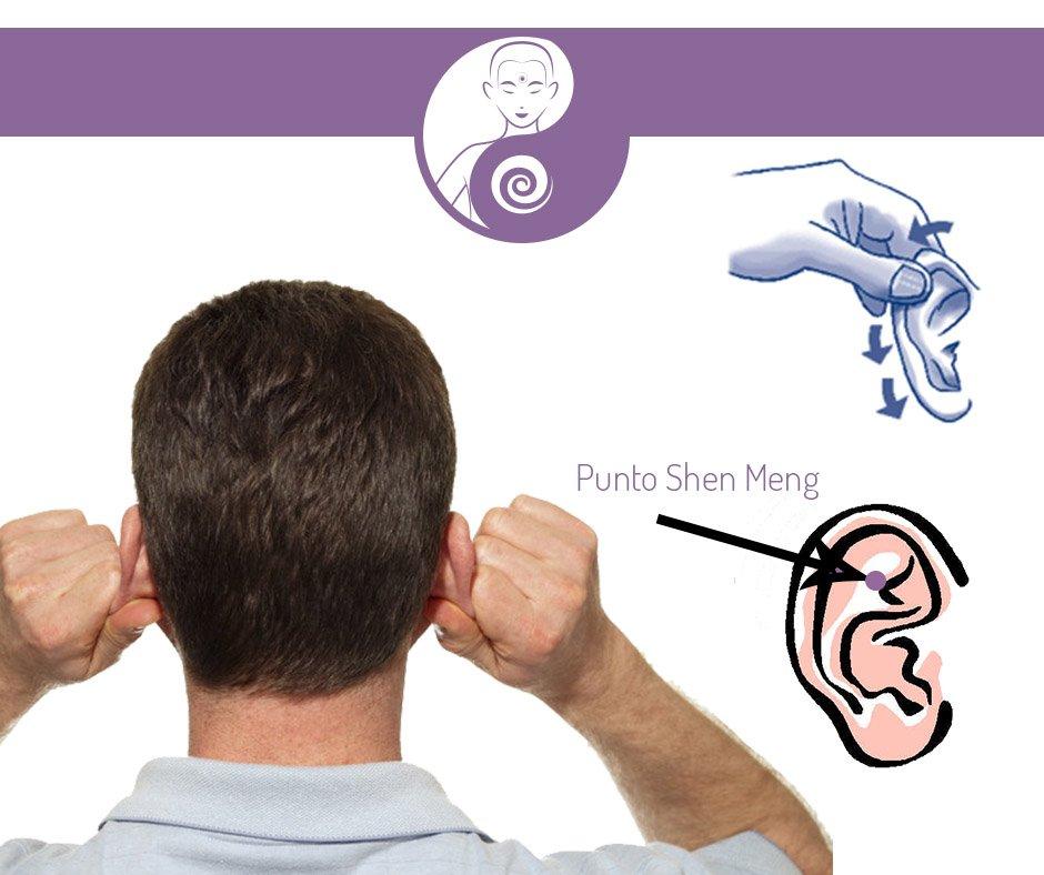 punto shen meng orecchio