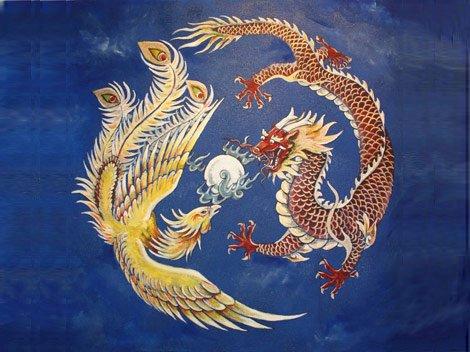Fenice e Drago come yin-yang